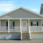 """Model 3 - 26'8"""" X 52'0"""" (1387 sq. ft.) + 6' Full Front Porch Double Wide"""