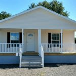 """Model 8 - 26'8 X 60'8"""" 1618 sq. ft. Double Wide with full front porch"""
